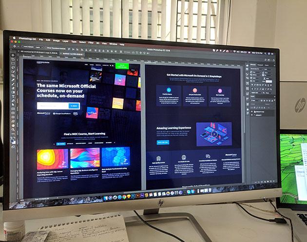 Adobe Photoshop: Пример за дизайн на система, която използва менюта