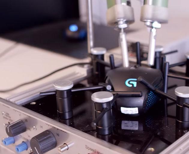 Лабораторен анализ на устройства за входиране - като клавиатури, мишки, джойстици и дуги устройства.